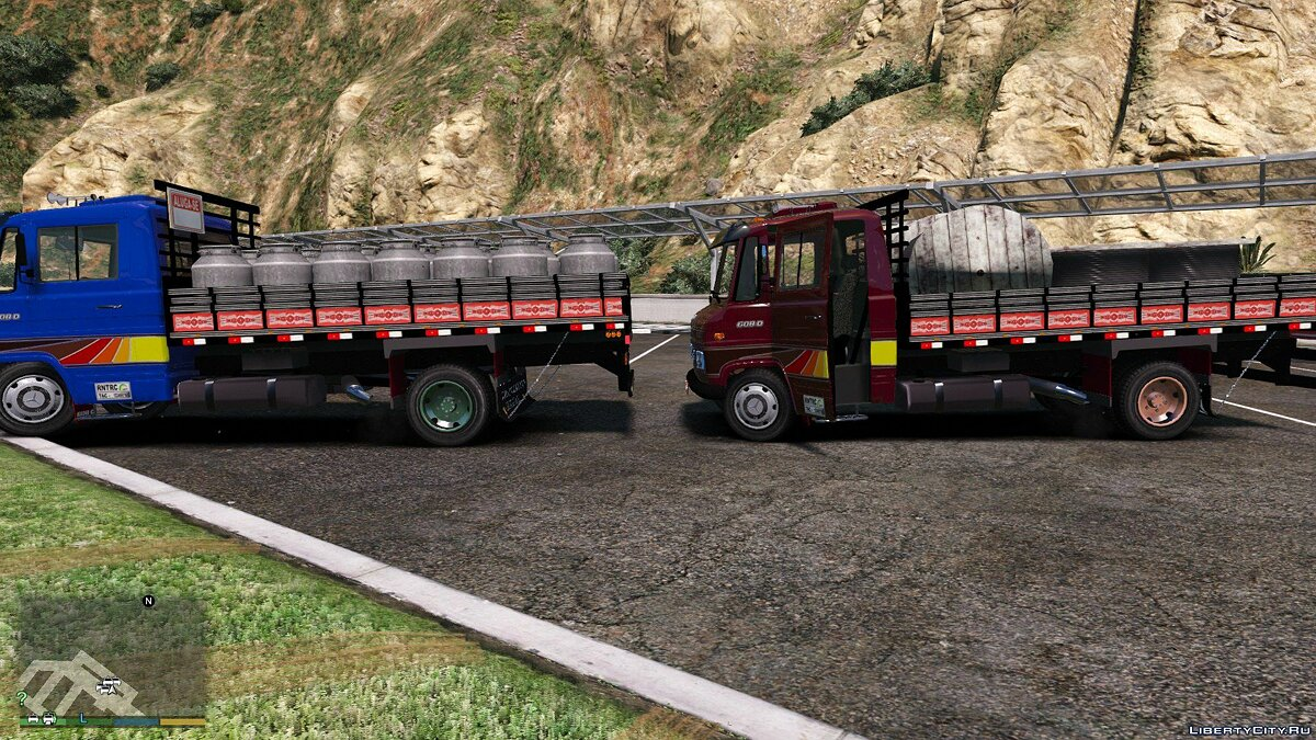 Truck MB 608D Carroceria + extra 1.0 for GTA 5