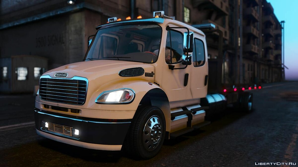 Truck Freightliner M2 Crew Cab Flatbed [Add-on | Script | BETA] 1.0 for GTA 5