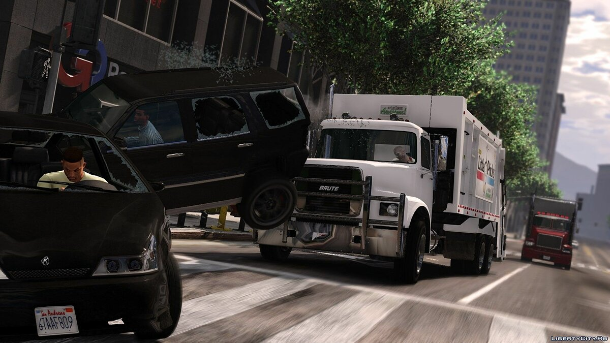 Brute Tipper-based Trashmaster Classic [Add-On] v1.1 for GTA 5 - screenshot #8