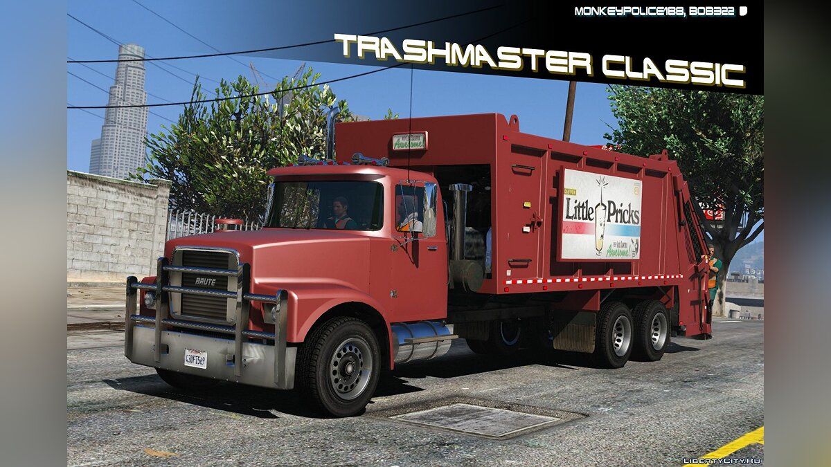 Brute Tipper-based Trashmaster Classic [Add-On] v1.1 for GTA 5