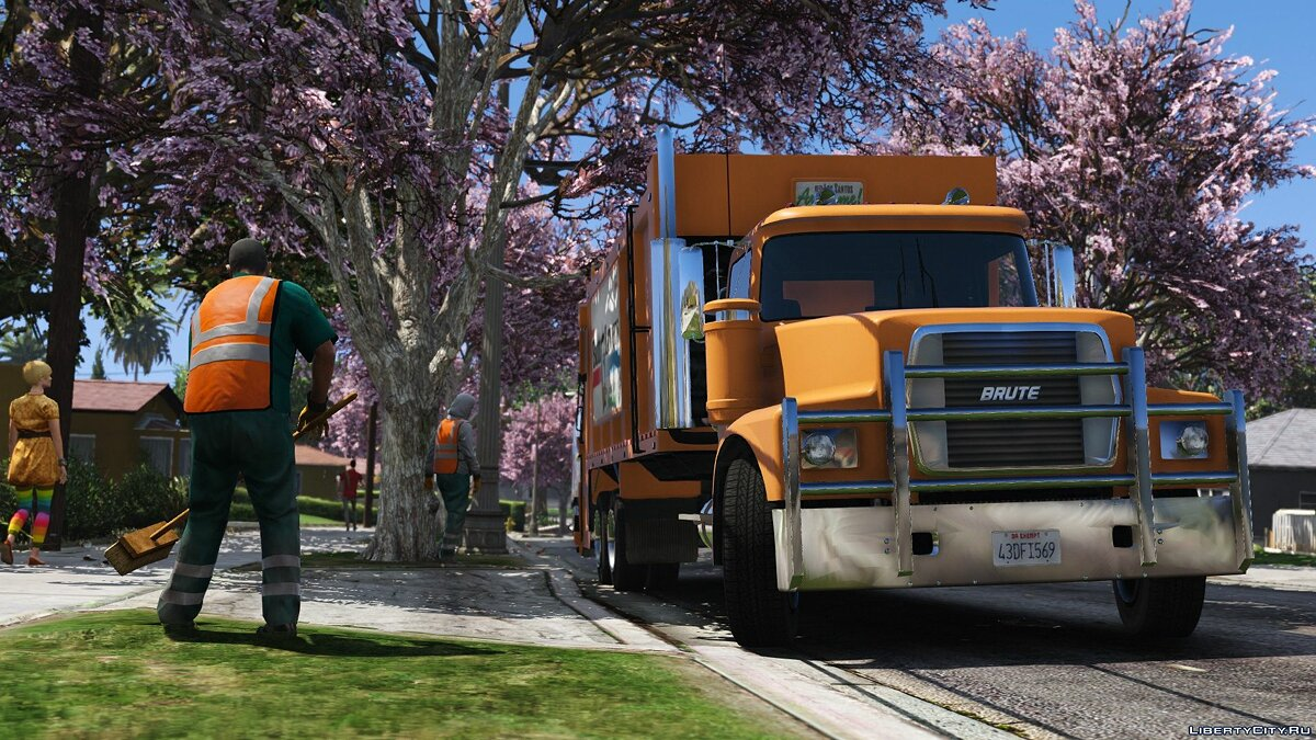 Brute Tipper-based Trashmaster Classic [Add-On] v1.1 for GTA 5 - screenshot #7