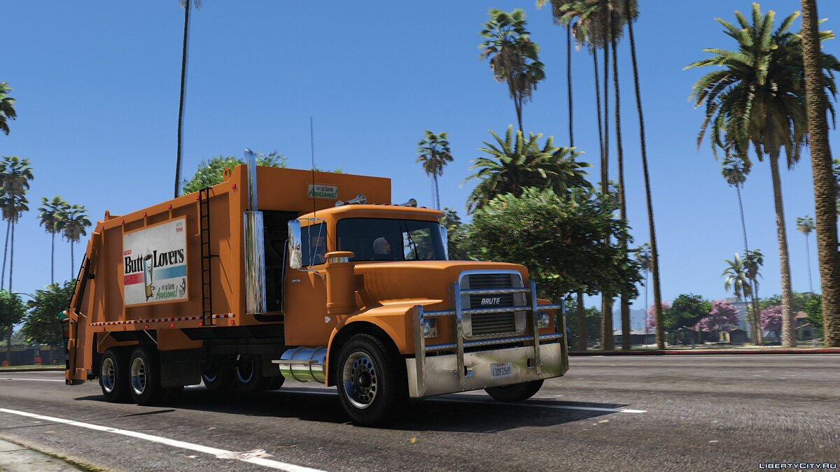 Brute Tipper-based Trashmaster Classic [Add-On] v1.1 for GTA 5 - screenshot #3