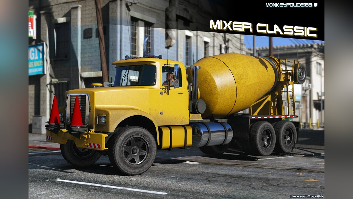 Truck Brute Tipper-based Mixer Classic [Add-On] v1.0 for GTA 5