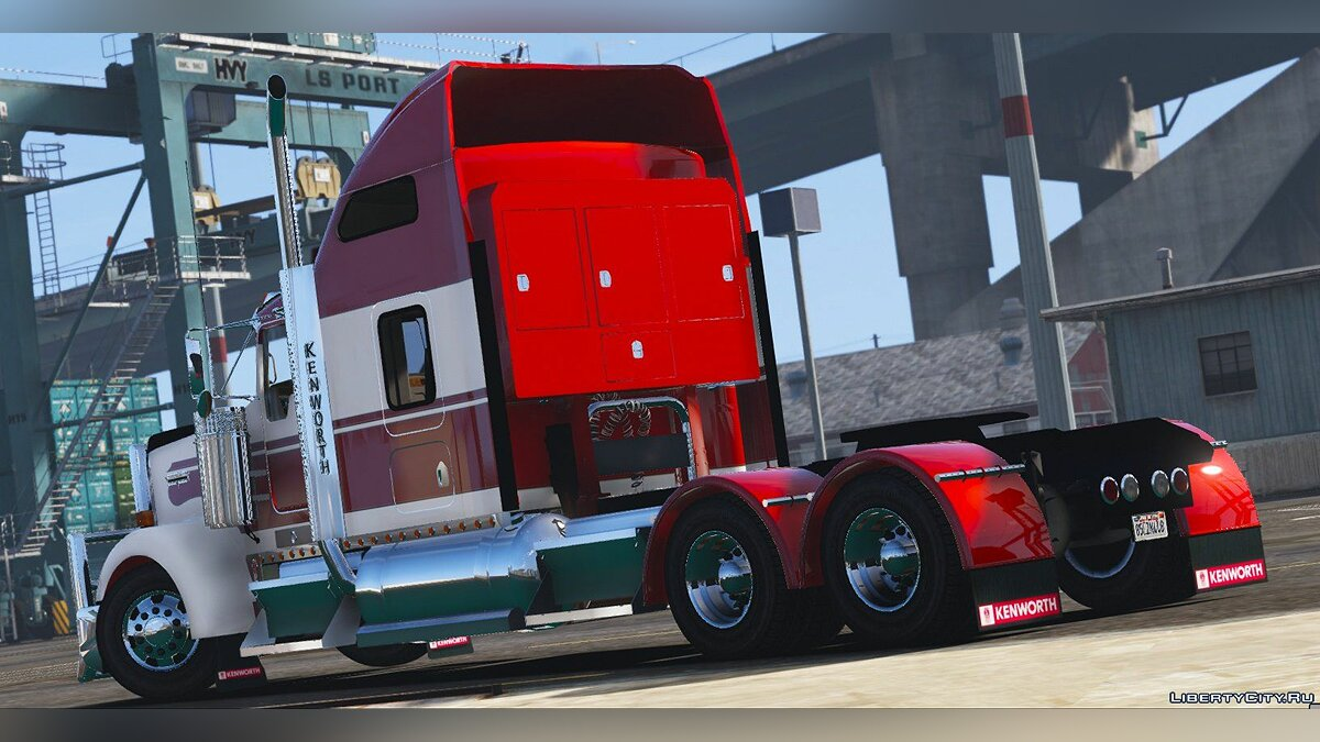 Truck 2014 Kenworth W900 6x2 Mid Cab [Livery / Extras / Add-On / Replace] 1.2 for GTA 5
