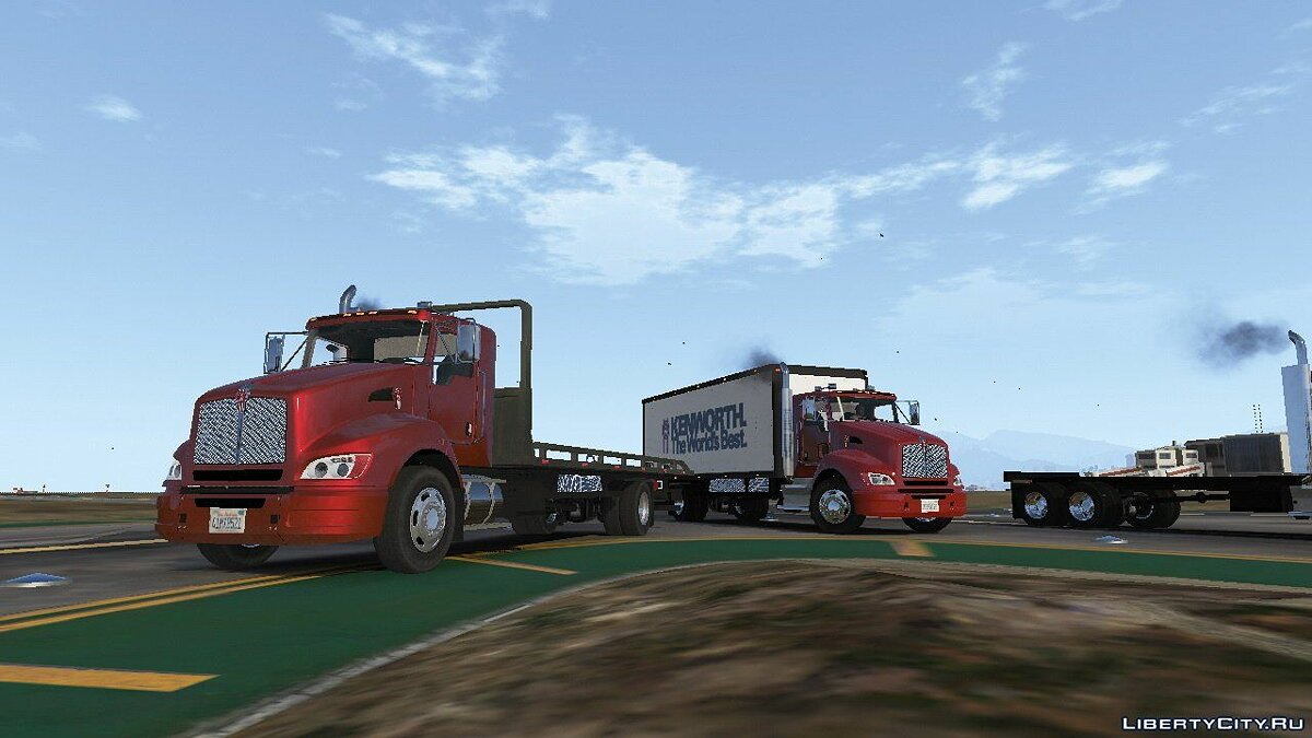 2012 Kenworth T440 Box / Flatbed Truck [Template] 2.3 for GTA 5