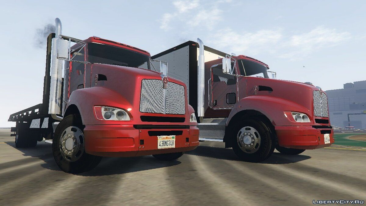 2012 Kenworth T440 Box / Flatbed Truck [Template] 2.3 for GTA 5 - screenshot #4