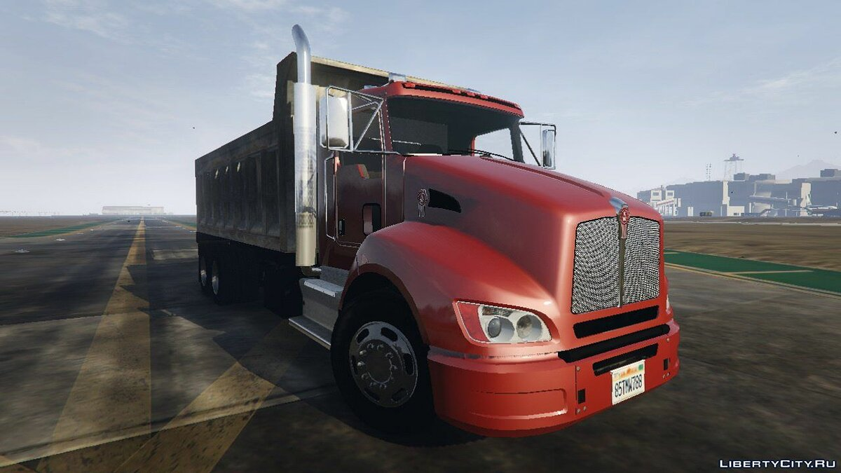 2012 Kenworth T440 Box / Flatbed Truck [Template] 2.3 for GTA 5 - screenshot #6