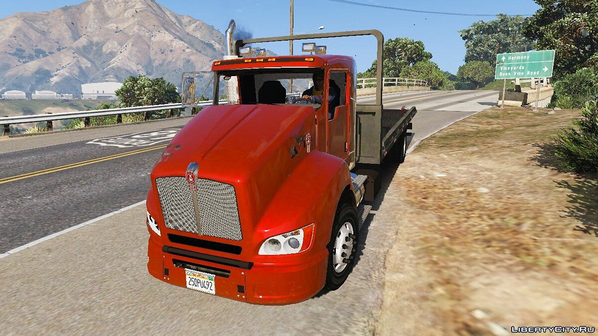 2012 Kenworth T440 Box / Flatbed Truck [Template] 2.3 for GTA 5 - screenshot #5