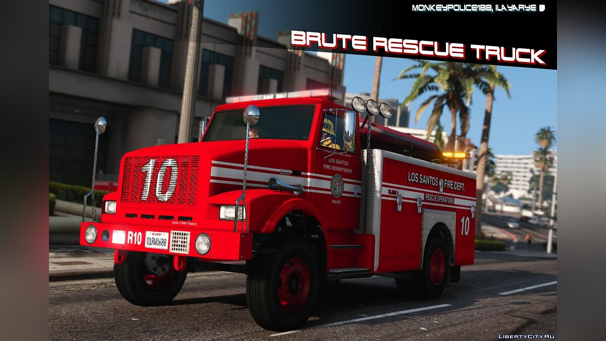 Truck Fire engine for GTA 5