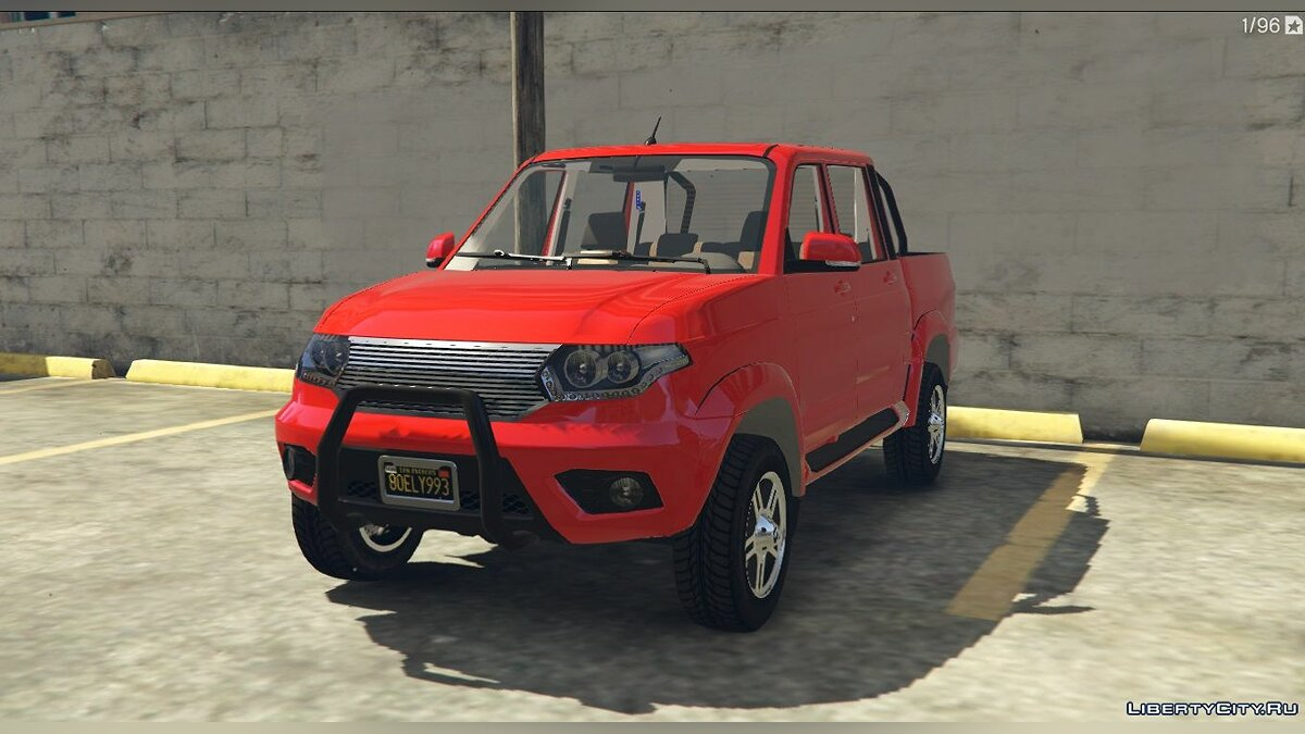 UAZ car UAZ Patriot Pickup + Tuning for GTA 5