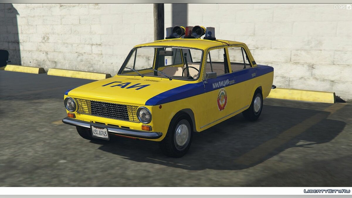 VAZ car VAZ 2101-21011 LADA POLICE for GTA 5
