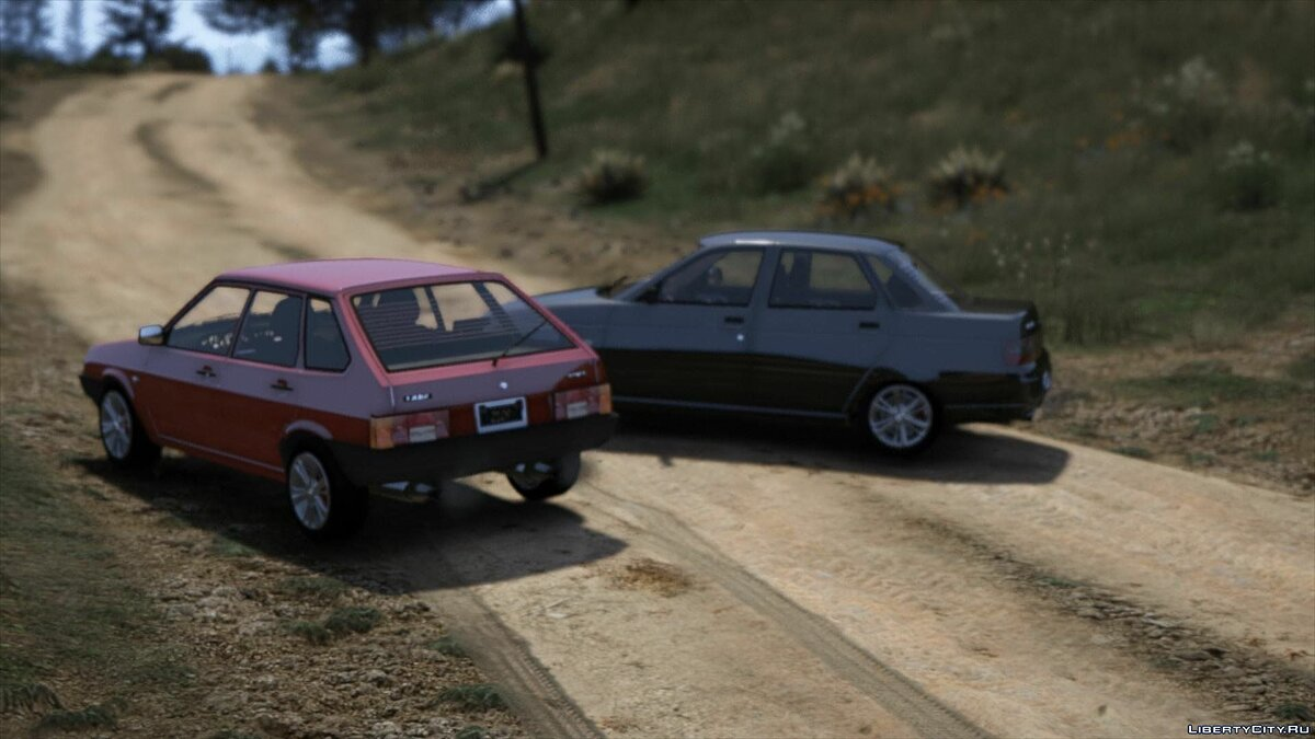 VAZ car VAZ 2109 and VAZ 2110 by AKROM Add-ON 1.0 for GTA 5