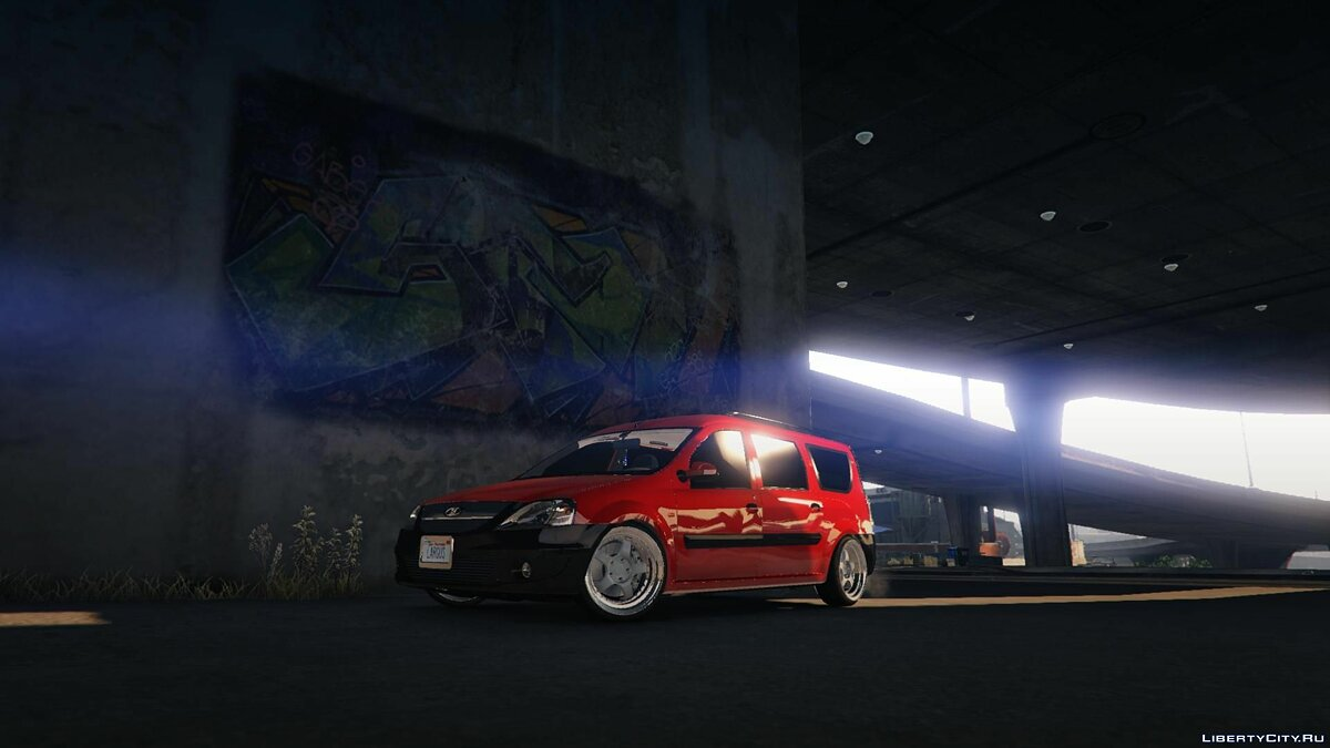 VAZ car LADA LARGUS by AKROM Add-ON for GTA 5