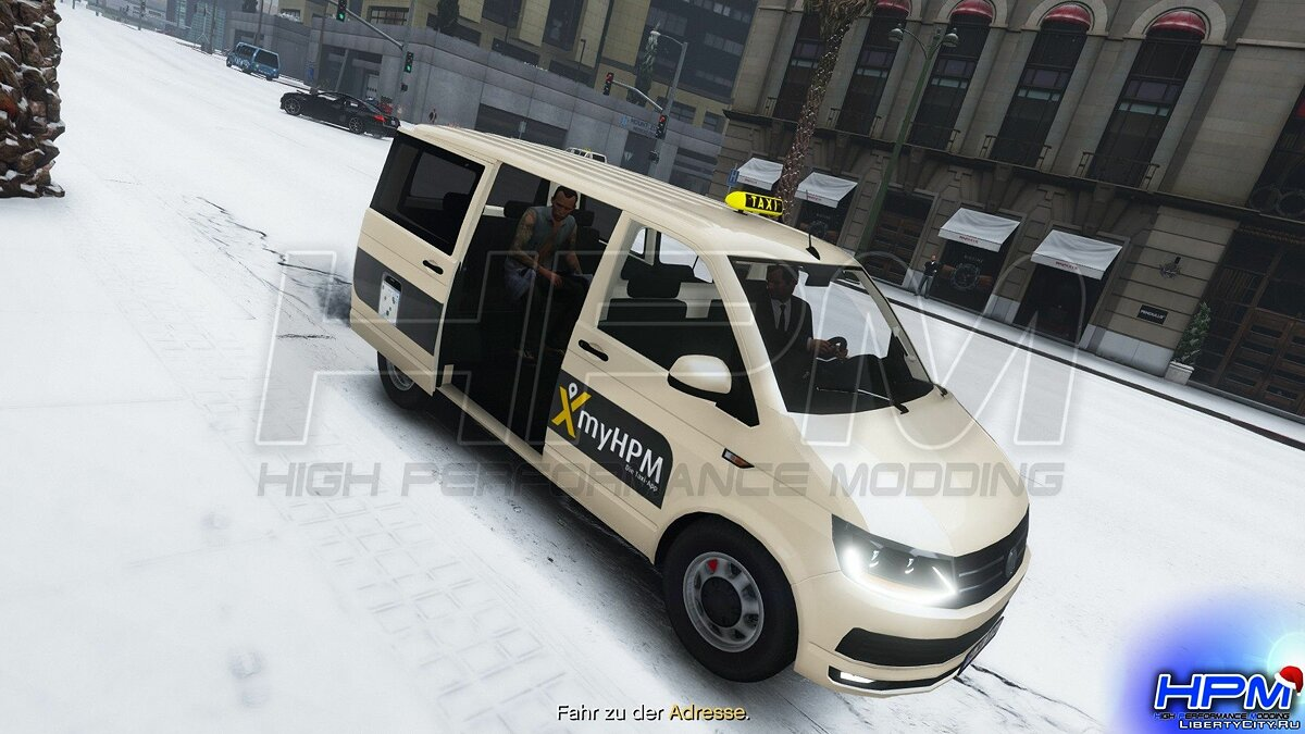Volkswagen car Volkswagen T6 Taxi [Add-On | Replace] 1.0 for GTA 5