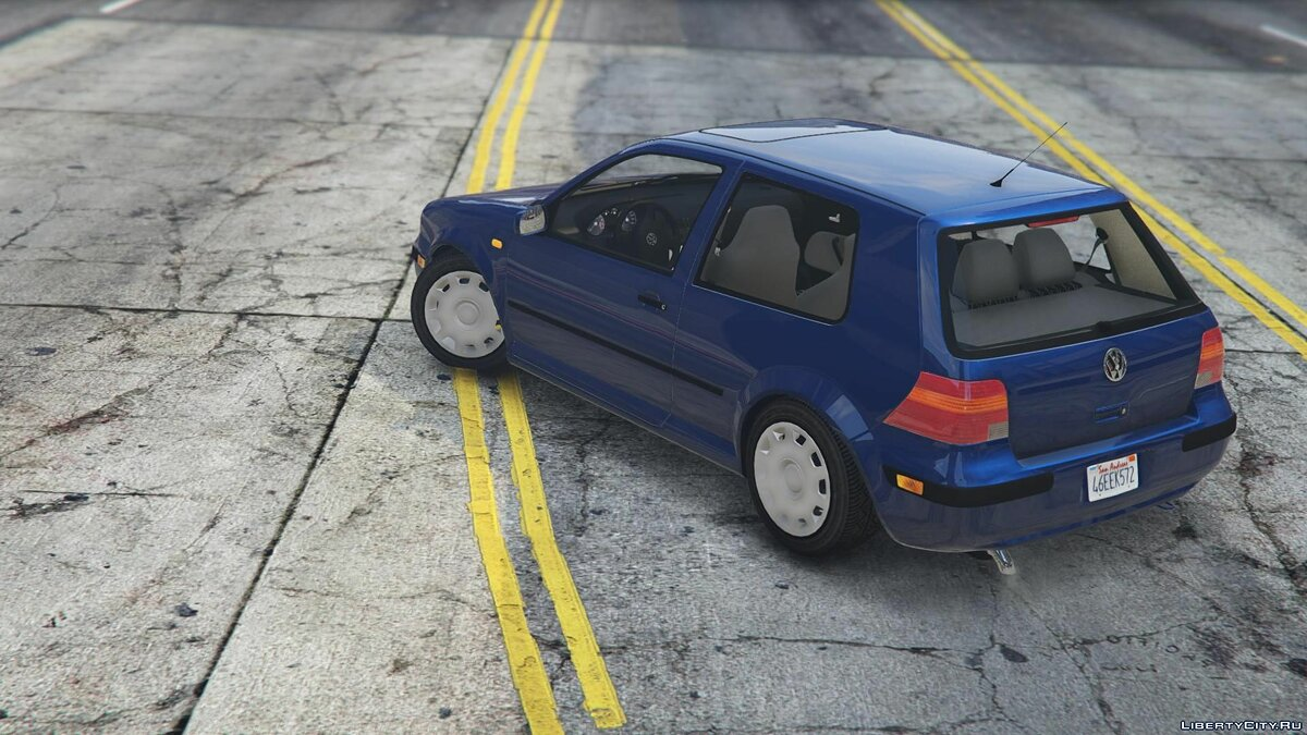 Volkswagen car Volkswagen Golf 4 1.1 [ADD-ON / OIV / Stock / + Tuning Parts) 1.0 for GTA 5