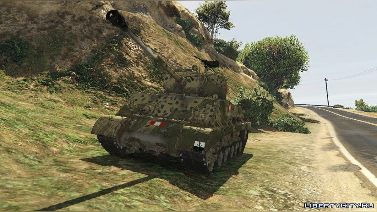Military vehicle The new skin for the tank Sherman M4A3 76W for GTA 5