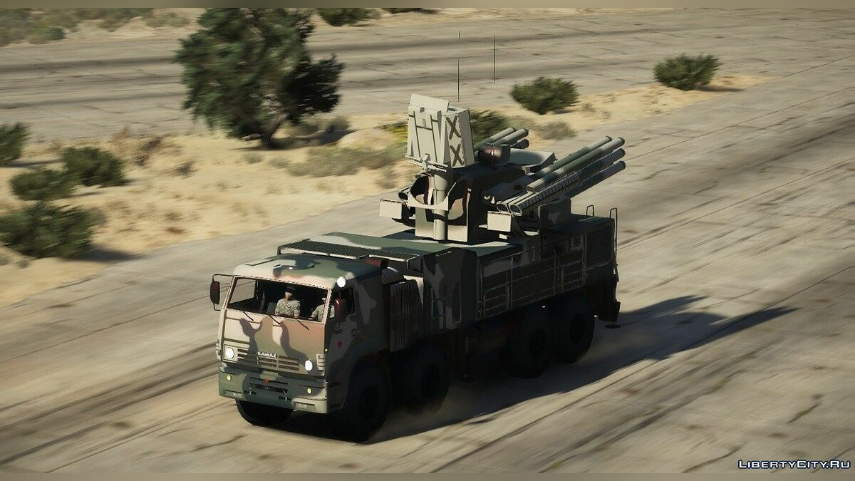 Military vehicle KAMAZ-6560 Pantsir-S1 [Add-on] - KamAZ-6560 Pantsir-C1 for GTA 5