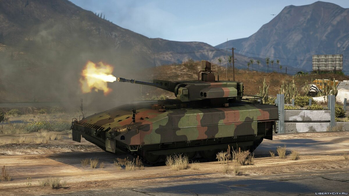 Military vehicle Puma IFV [Lock-On missiles / 10 seats / Add-On] 1.0 for GTA 5