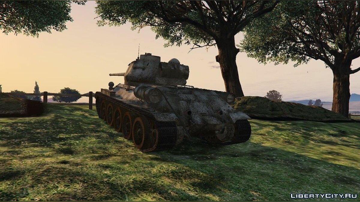 Military vehicle Текстуры для танка T34-85 for GTA 5