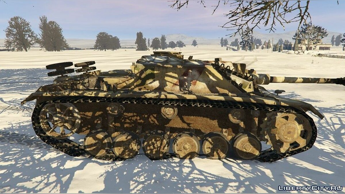 Military vehicle New skin for tank Stug 3 for GTA 5