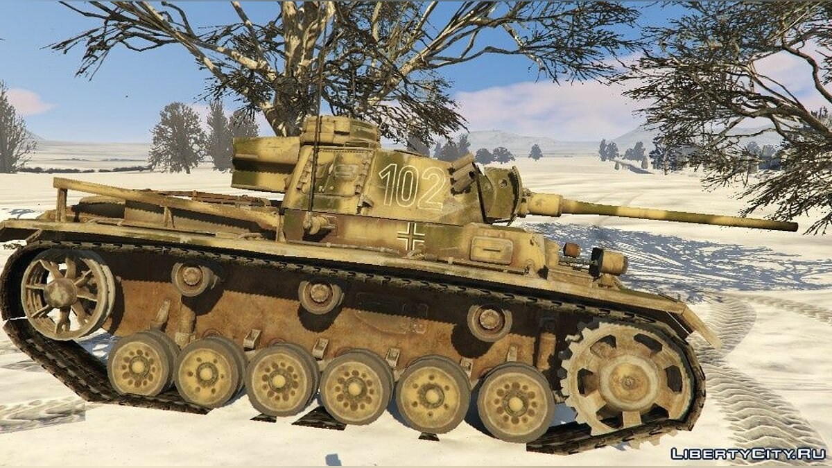 Military vehicle Skin Collection for Panzer III WWII for GTA 5