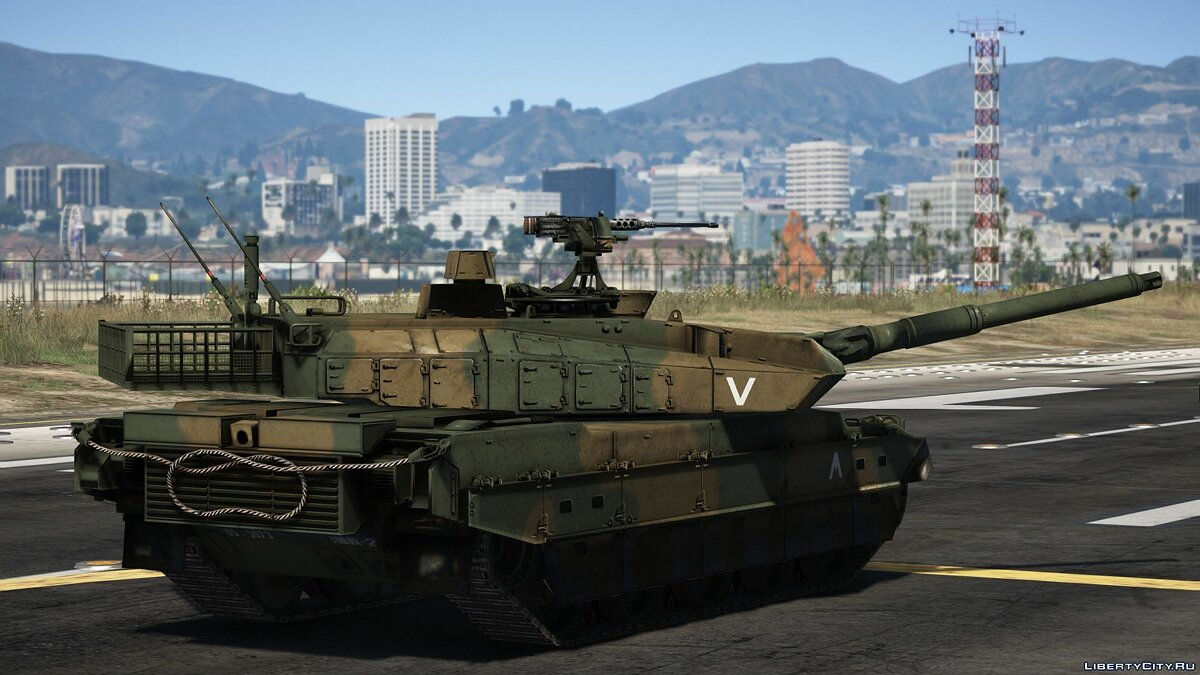 Military vehicle Type 10 Japanese MBT [Add-On | Working Hydraulics] 1.0 for GTA 5