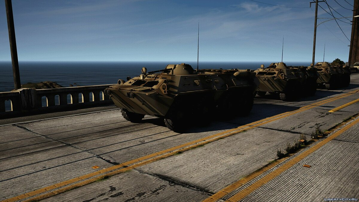 Military vehicle BTR-80 1.0 for GTA 5