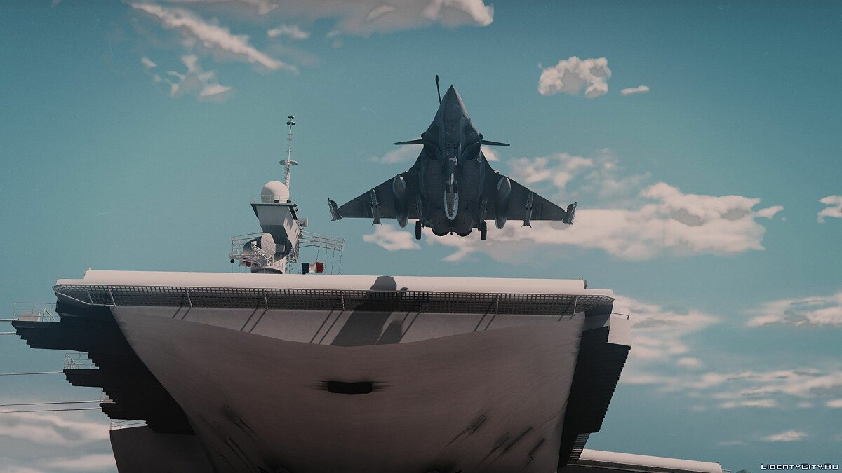 Boats and motorboats French aircraft carrier Charles de Gaulle [Add-on] V1 for GTA 5