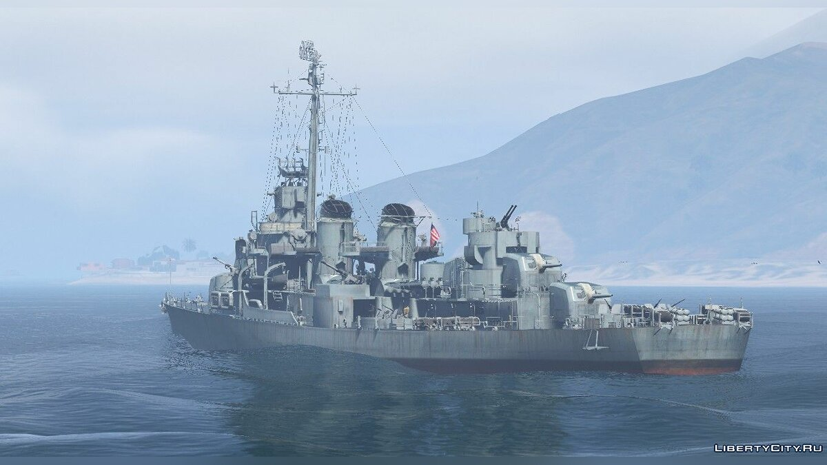 Boats and motorboats USS Fletcher for GTA 5