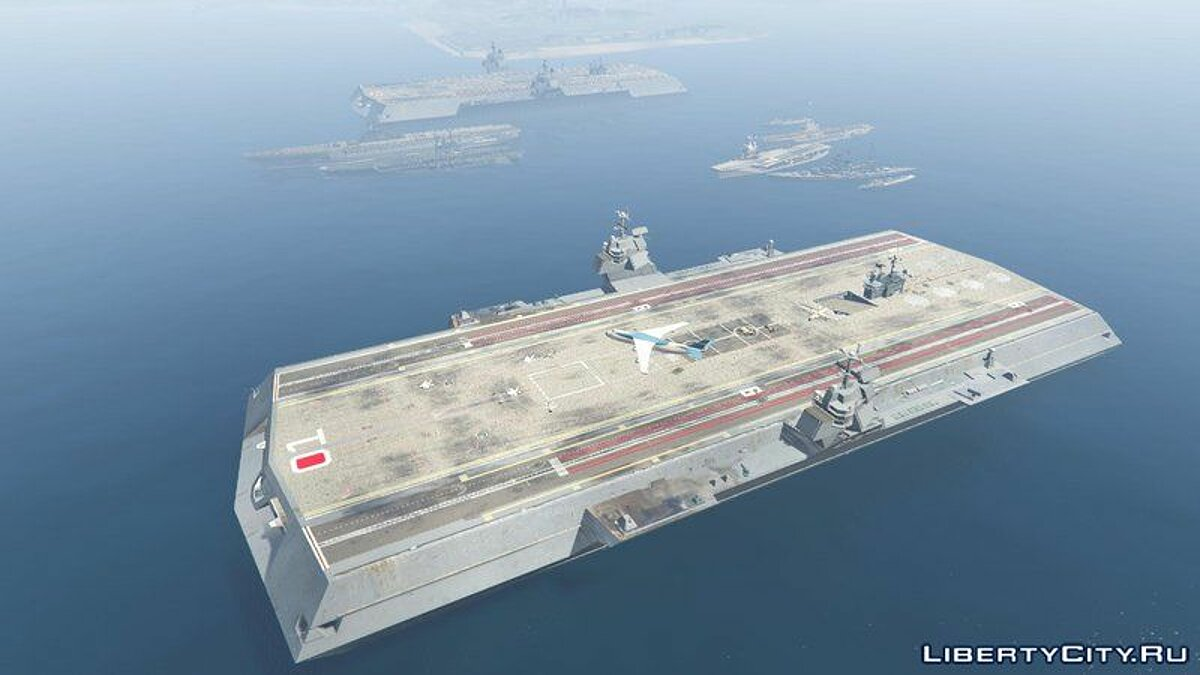 Boats and motorboats Mega Aircraft Carrier [Add-On] for GTA 5