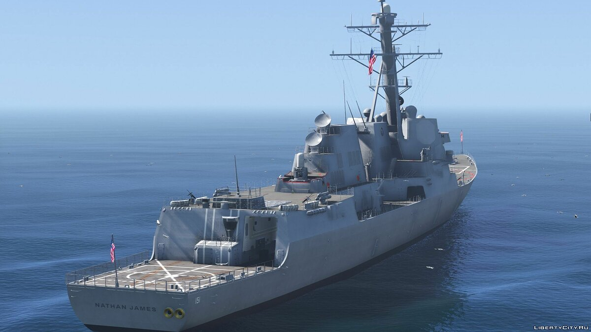 Boats and motorboats DDG-151 Nathan James [Add-On | Interior | Custom layout] 1.0 for GTA 5