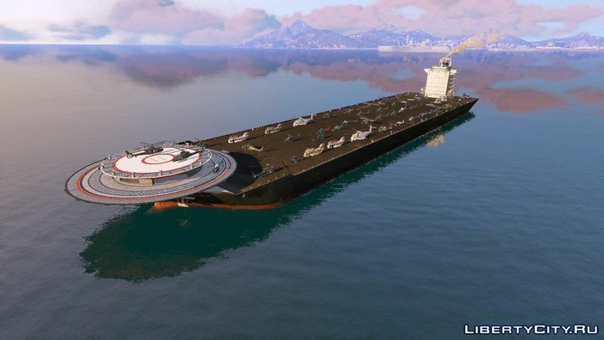 Boats and motorboats Helicarrier Ocean III [Add-On] for GTA 5