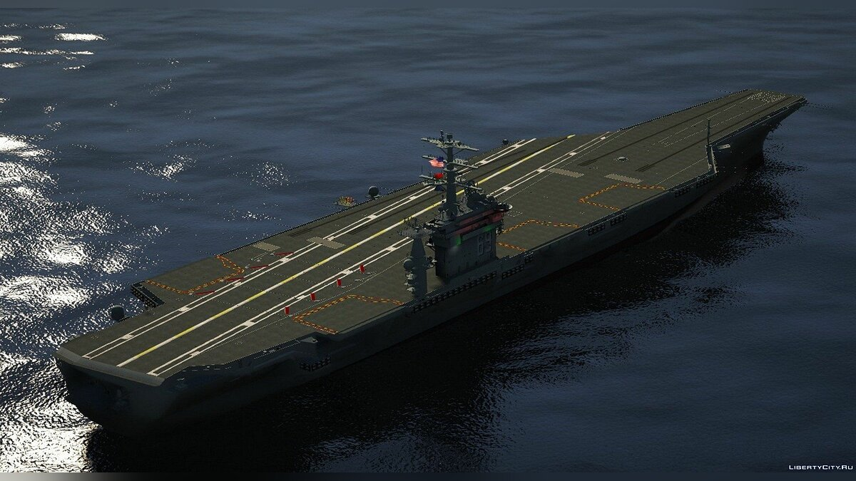 Boats and motorboats USS Dwight D. Eisenhower (CVN-69) [Add-on] V1 for GTA 5