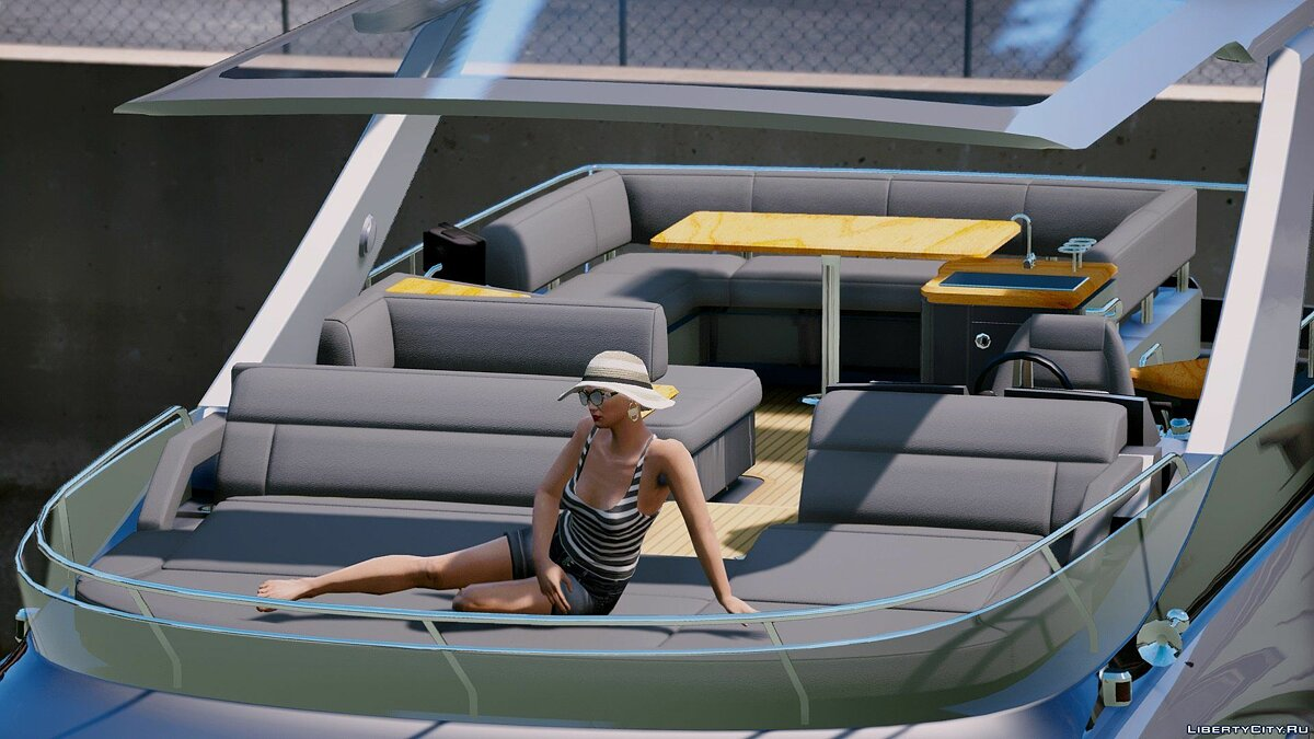 Boats and motorboats Sea Ray 650 fly [Add-On / Replace] 1.4 for GTA 5
