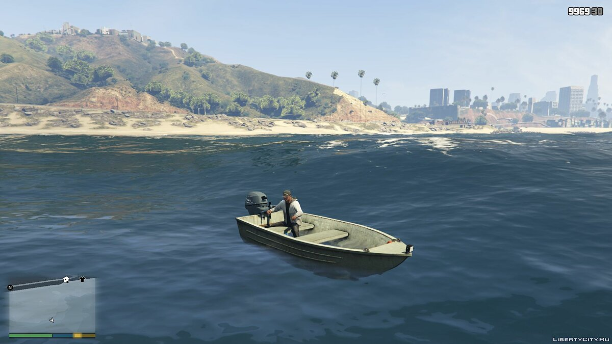 Boats and motorboats Моторная лодка for GTA 5
