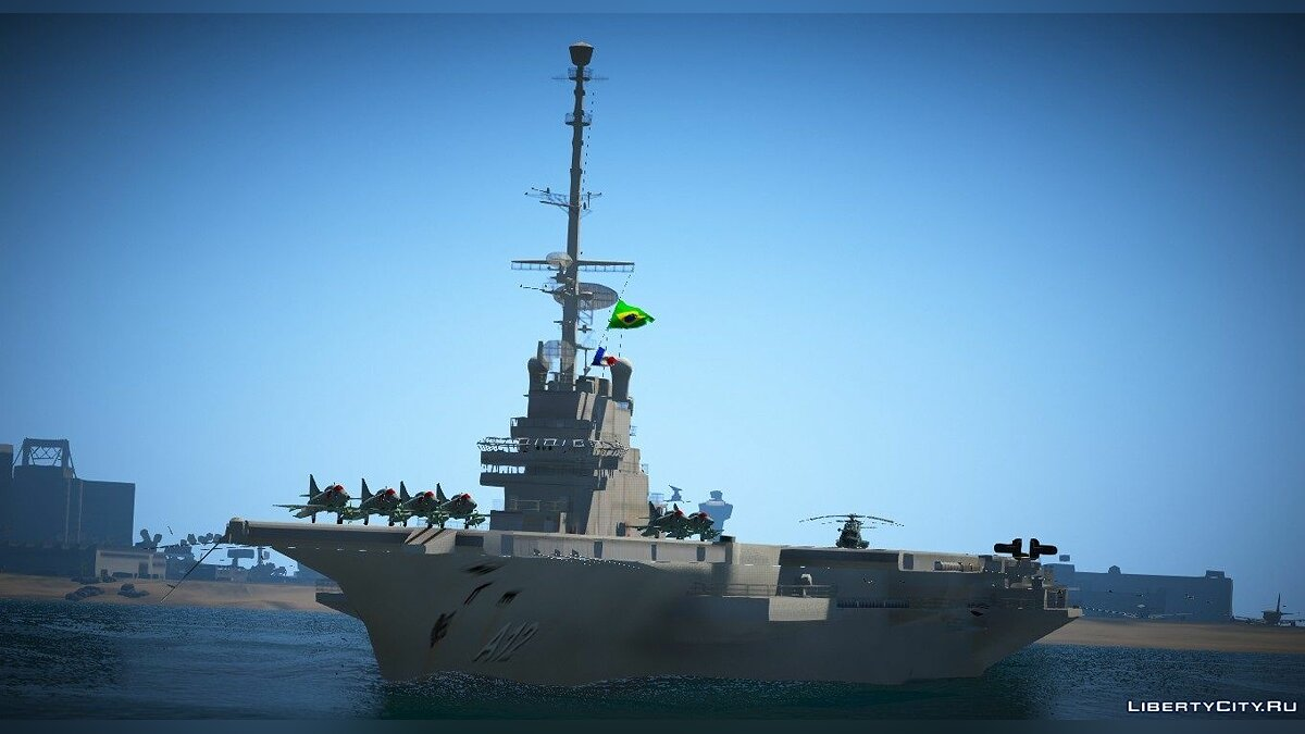 Boats and motorboats Carrier Foch NAe São Paulo (A-12) [Add-on] for GTA 5