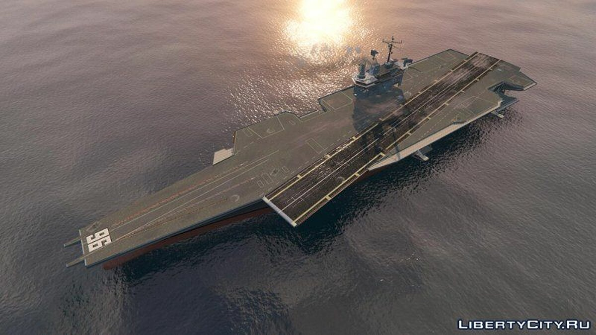 Boats and motorboats Driveable Enhanced Aircraft Carrier [Add-On] for GTA 5