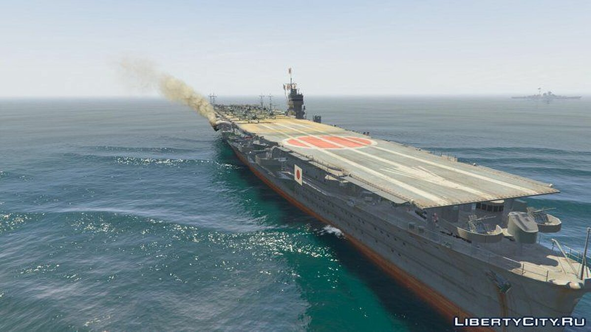 Boats and motorboats Hiryu Aircraft Carrier [Add-On] for GTA 5