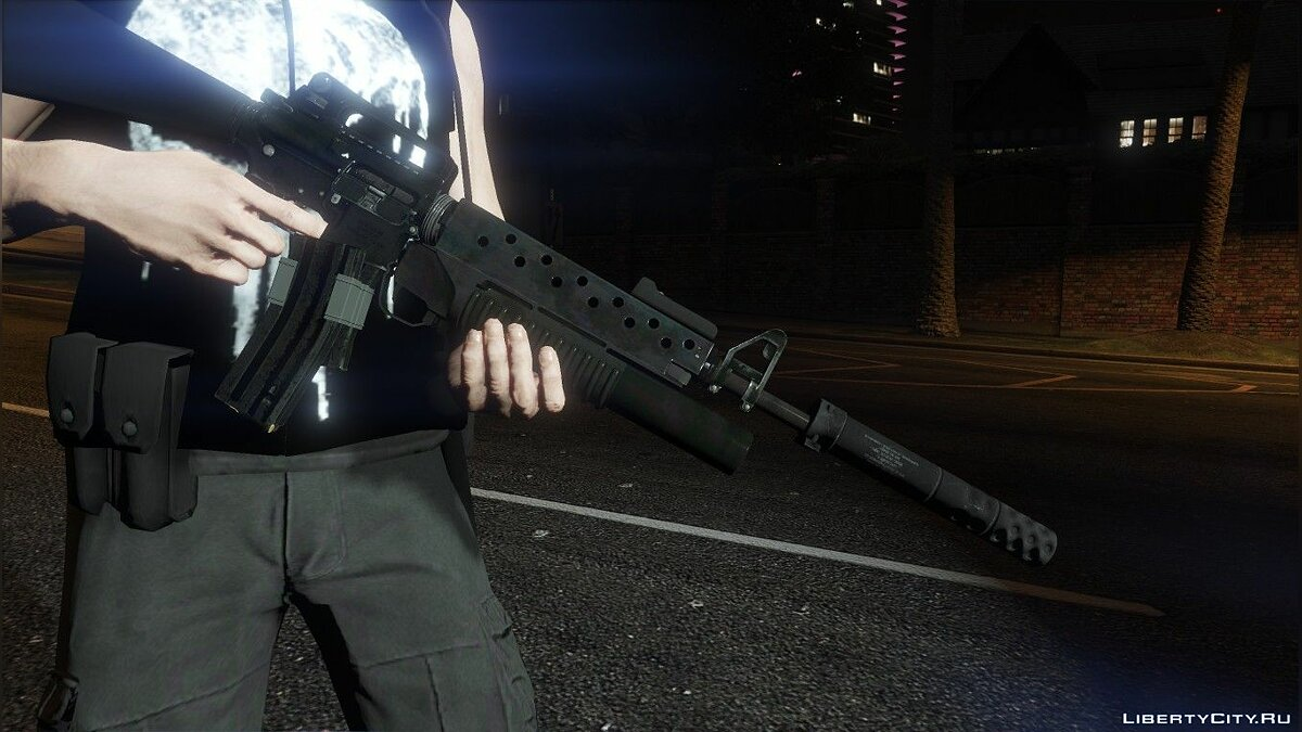Weapon mod Silencer for M16A2 + M203 for GTA 5