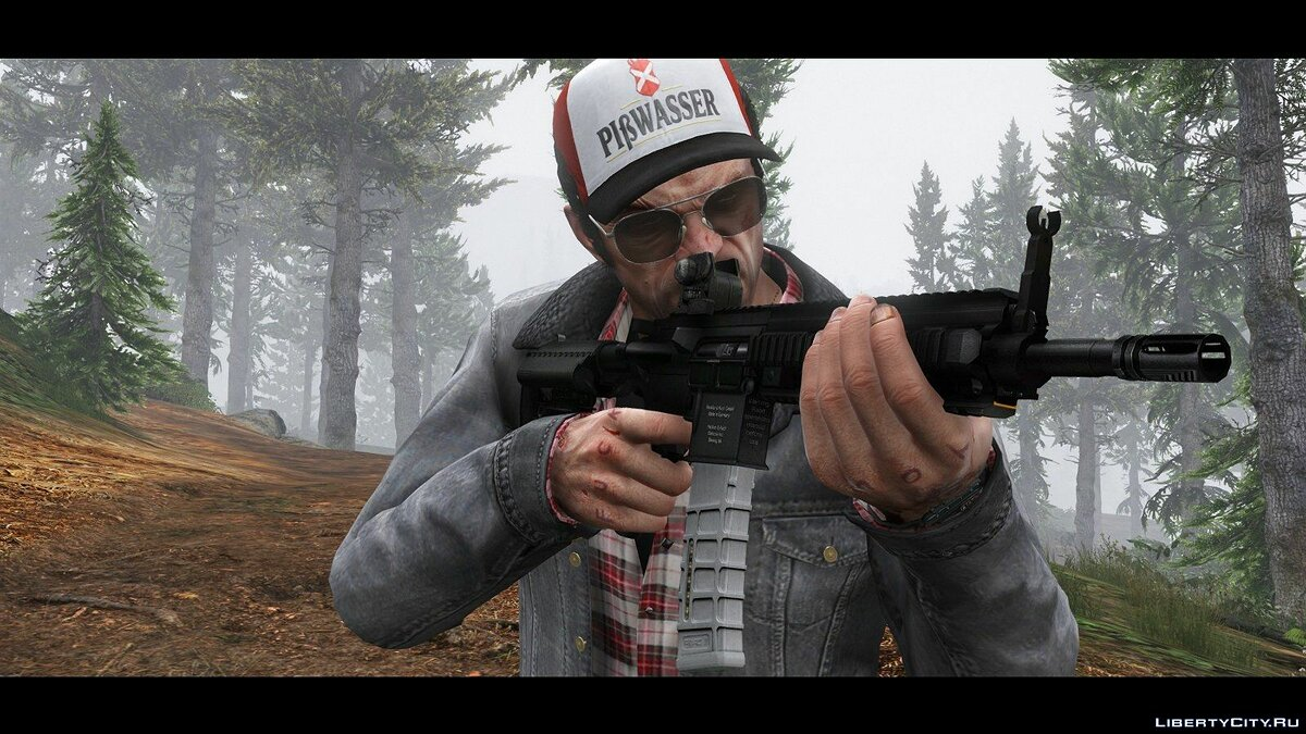 Weapon mod HK416 Full Attachments & Animated for GTA 5