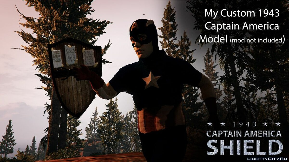 Weapon mod Captain America Shield for GTA 5