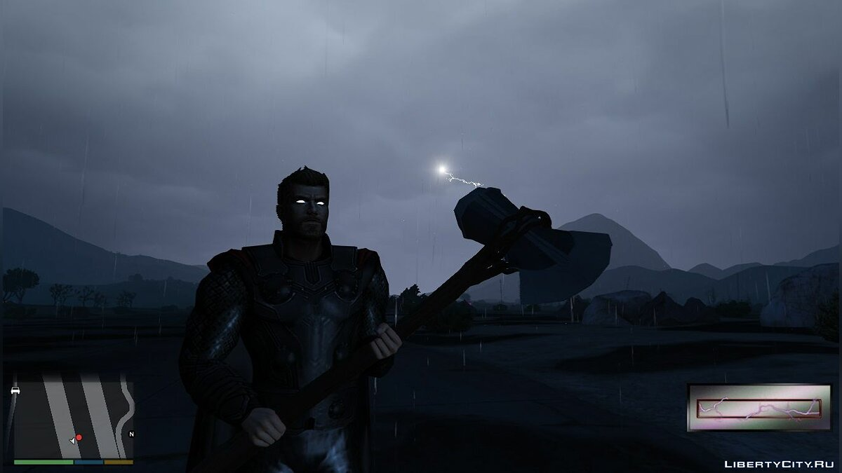 Weapon mod Stormbreaker Thor for GTA 5