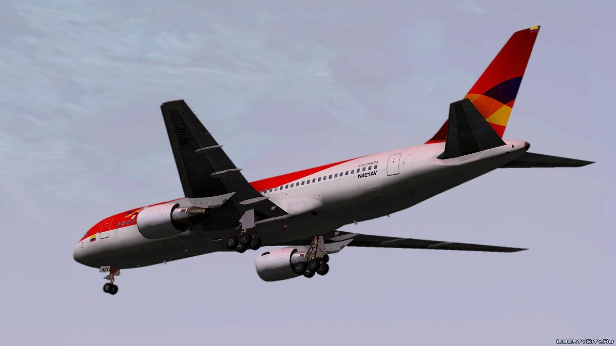 Planes and helicopters Boeing 767-200ER Avianca Colombia for GTA San Andreas