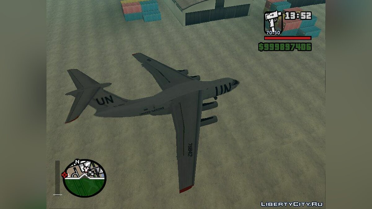 Planes and helicopters Ilyushin Il-76TD United Nations for GTA San Andreas