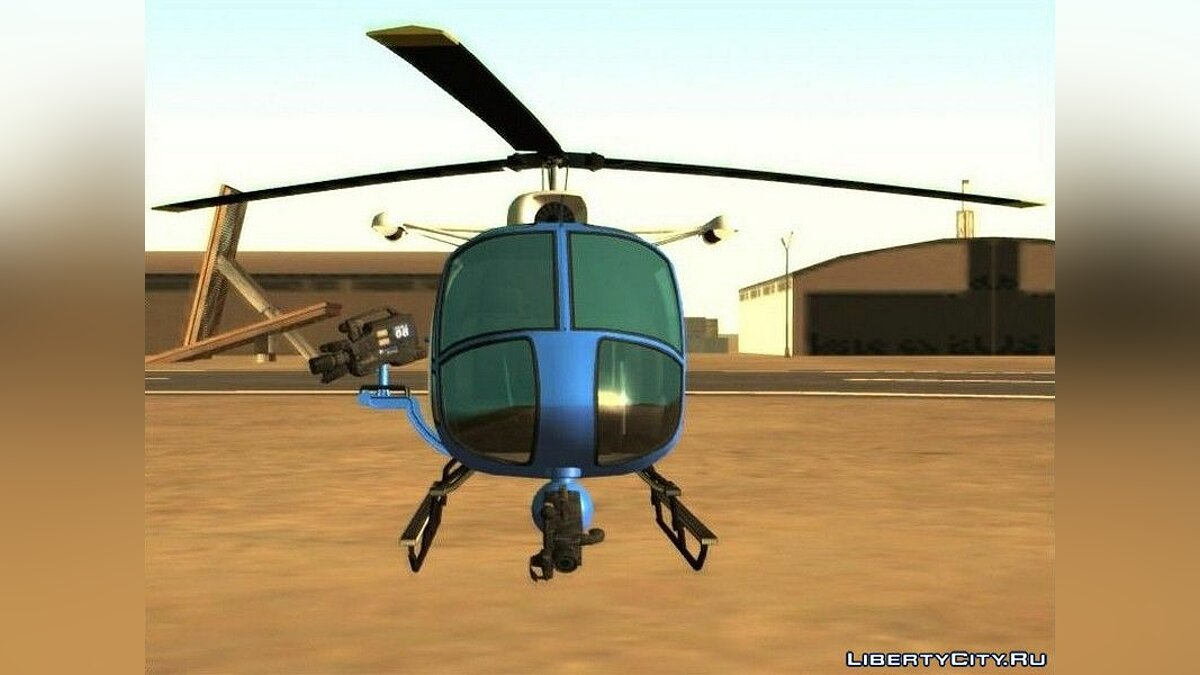 Planes and helicopters Weazel News Maverick from GTA 5 for GTA San Andreas