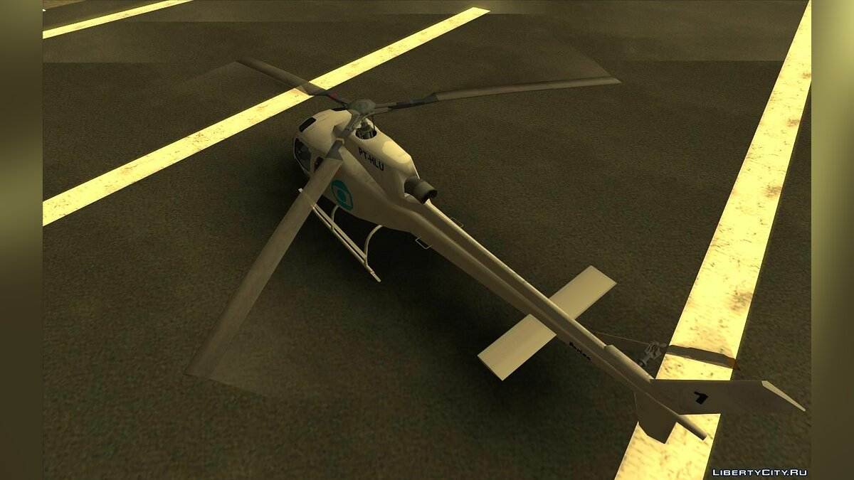 Planes and helicopters Esquilo H350 BA - GloboCop for GTA San Andreas