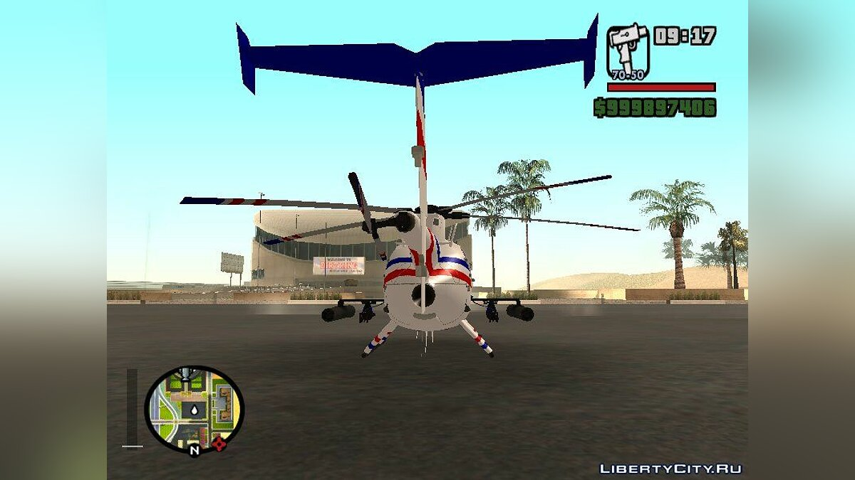 Planes and helicopters AH-6J Little Bird GBS News Chopper from Nuclear Strike for GTA San Andreas