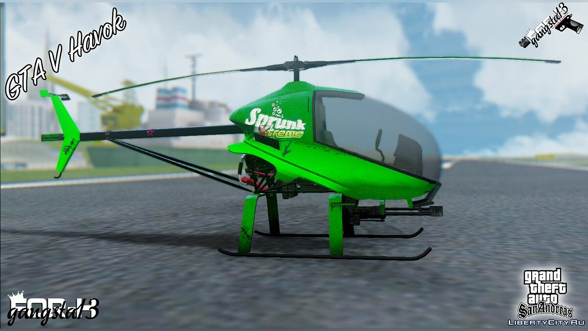 Planes and helicopters Havok V2 from GTA 5 for GTA San Andreas