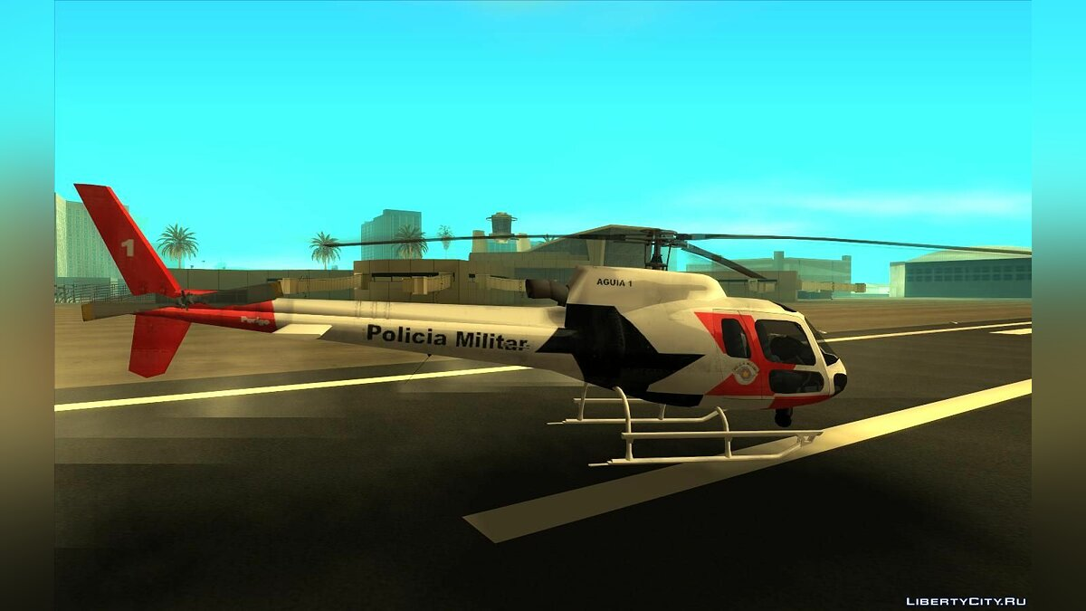 Planes and helicopters Esquilo H350 BA - PMESP for GTA San Andreas