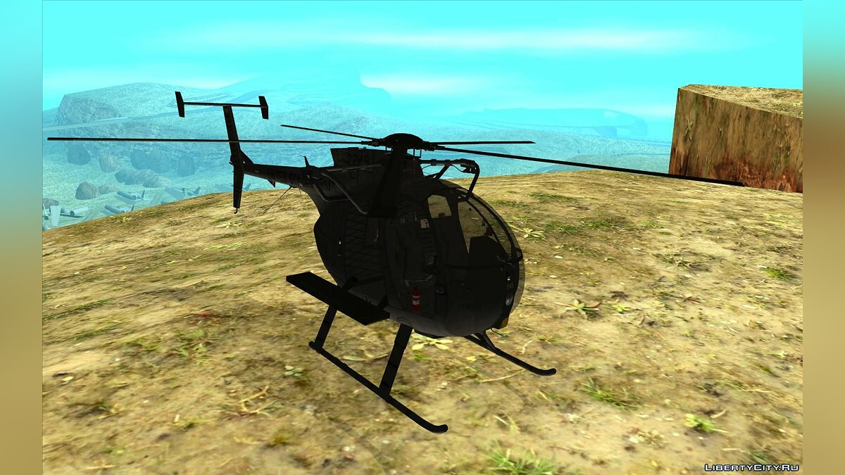 Planes and helicopters MH-6 Little Bird for GTA San Andreas